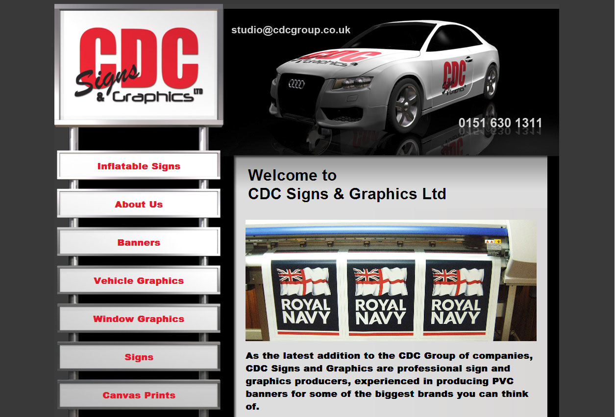 Website Design: CDC Signs and Graphics
