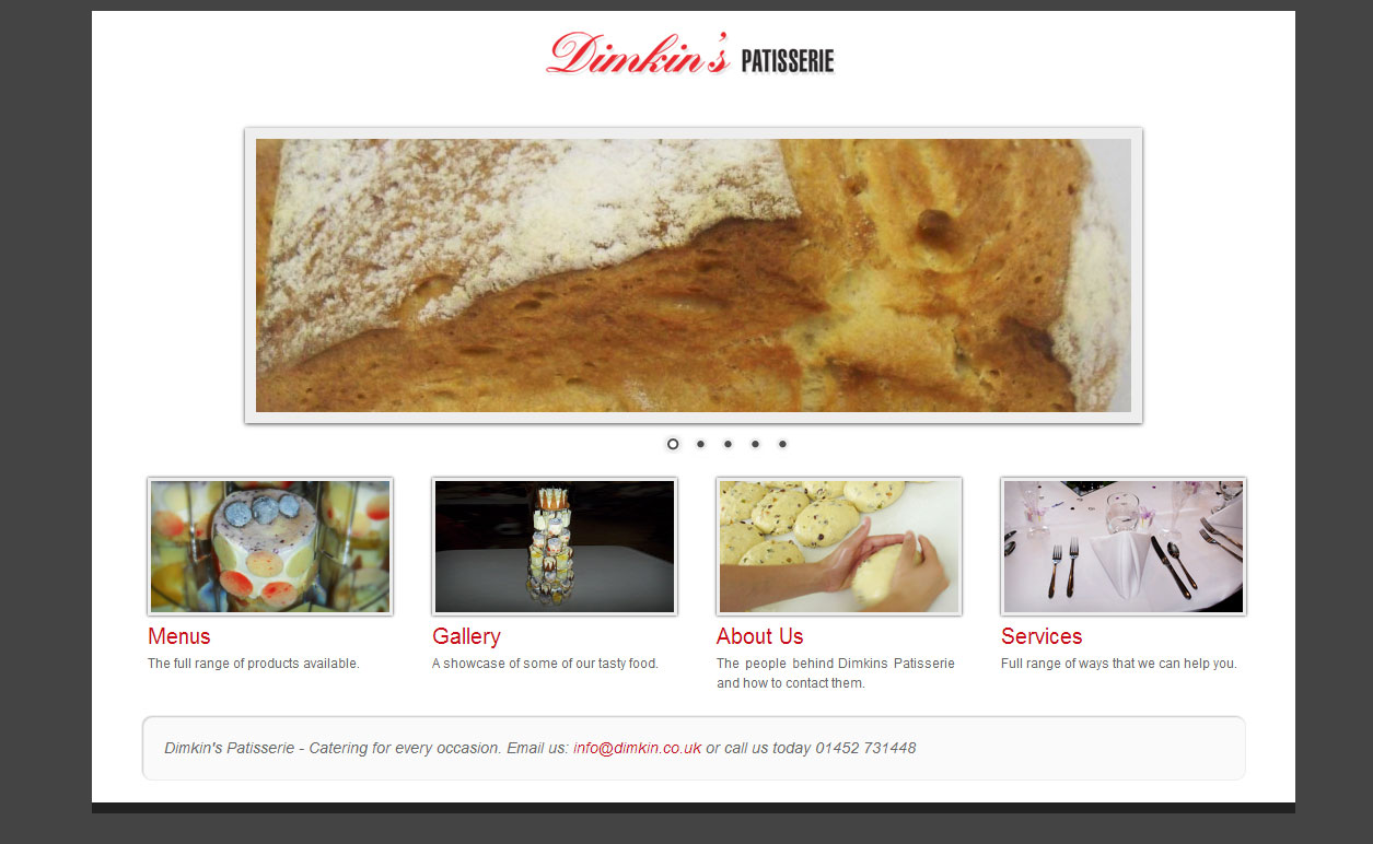 Website Design: Dimkin's Patisserie