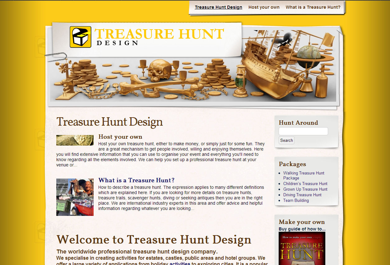 Website Design: Treasure Hunt Design